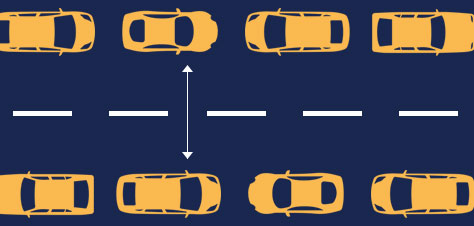 Road size and parked cars