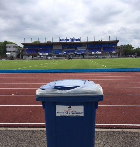 Powerday recycling bin at Saracens RFC club ground