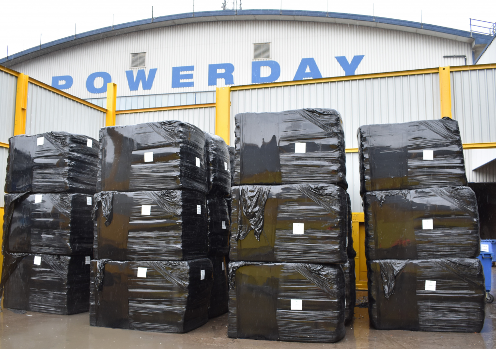 Refuse derviced fuel (RDF) bales at Powerday
